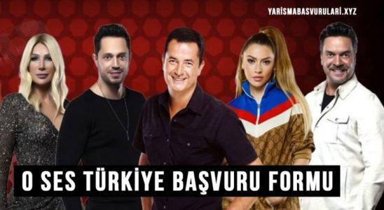 O Ses Türkiye Başvuru Formu Yeni Sezon