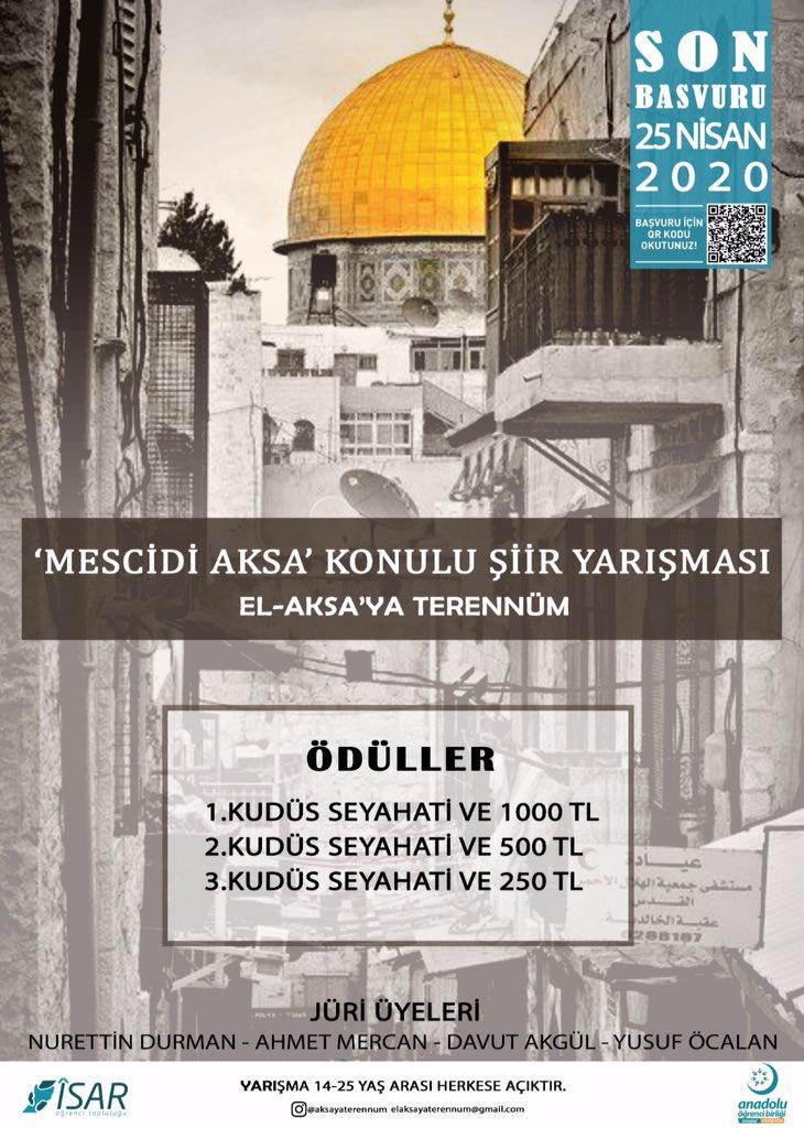 Mescidi Aksa Şiir Yarışması (El-Aksa'ya Terennüm) Başvuruları ve Ödülleri