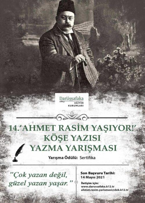 Ahmet Rasim Köşe Yazısı Yazma Yarışması 2021